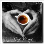 Coffee - heart hands